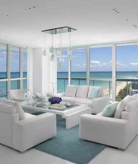 Project: Miami Beach Penthouse, Designer: Jennifer Post, Photography: Ken Hayden.