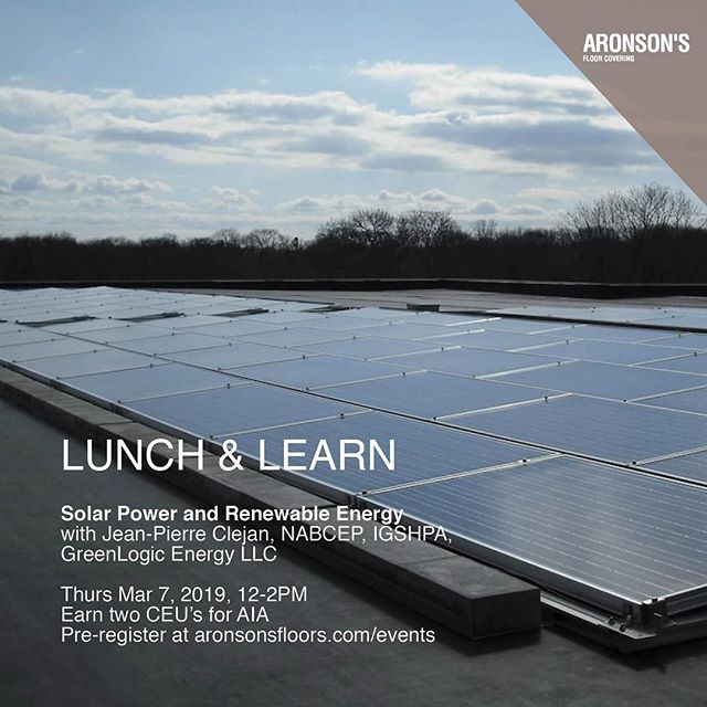 In our second to last course of the season, learn how renewable energy elements can be integrated into construction projects, understand the regulatory restraints that can that affect a project's success and review invaluable case studies.⁣ Hosted by GreenLogic LLC. Accredited for 2 CEU credits through AIA.⁣⠀